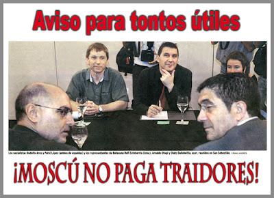 El Gobierno del País Vasco vuelve a humillar a las víctimas del terrorismo para contentar a ETA y a su entorno